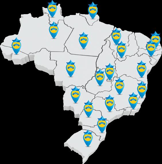 Imagem das regiões que temos unidades representantes.